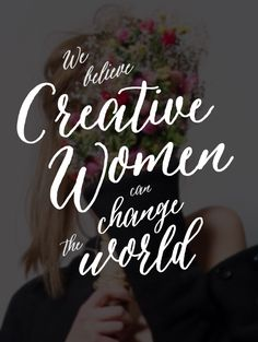 "Get on our ""Creative Ladies Resource List"""