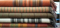 woolen throws in fall colors