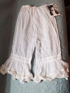 Betsey Johnson punk label cotton Bloomers Pantaloons Victorian Regency Sz P/xs #OldMillMercantile #Bloomers