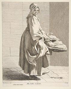 Lettuce Seller Anne Claude Philippe de Tubières, Comte de Caylus (French, Paris 1692–1765 Paris)