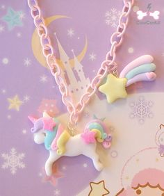 Pastel unicorn keychain made out of polymer clay Cute Polymer Clay, Polymer Clay Animals, Cute Clay, Fimo Clay, Polymer Clay Projects, Polymer Clay Charms, Polymer Clay Creations, Clay Crafts, Diy And Crafts