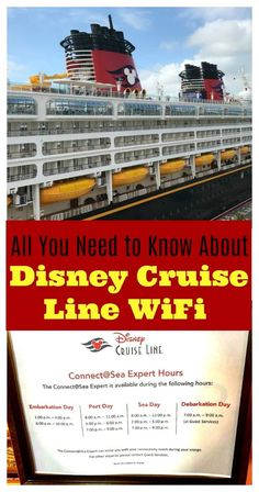 Tips and everything you need to know about how to connect to the internet on Disney Cruise Line! Are you going on the Disney Dream, Disney Magic, Disney Fantasy, or Disney Wonder? You'll want to know how much WiFi costs before you board! Disney Cruise Line, Disney Halloween Cruise, Disney Wonder Cruise, Disney Fantasy Cruise, Disney Magic Cruise Ship, Cruise Tips, Cruise Travel, Cruise Vacation, Disney Vacations