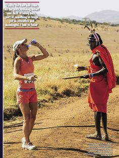 Duh! OF COURSE one should train for a marathon with a #Masaii, a #KenyanRunner! #PippaMiddleton
