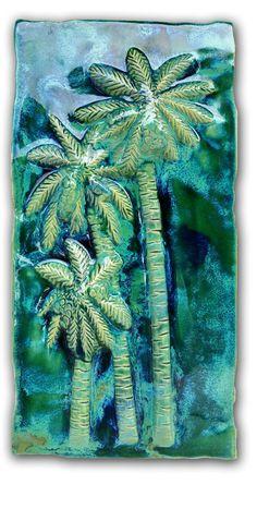 "Kitchen Plaque Palms Trees Design 8.5""x17.5"" MP25"