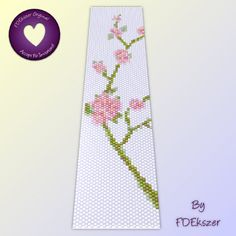 Sakura - Peyote Stitch Beading Pattern for cuff bracelet - PDF - bp42 / Buy any 2 Patterns and GET 1 FREE Special Offer. $6.50, via Etsy.