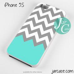 Grey White Blue Chevron Phone case for iPhone 4/4s/5/5c/5s/6/6 plus