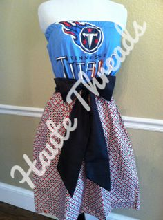 NFL Tennessee Titans Pro Football Gameday Dress by hautethreadsboutique, $70.00