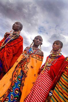 Maasai tribal women, Amboseli National Park, Kenya by Jim Zuckerman