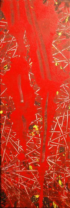 """""""Glowing"""" Acrylic on canvas 20/60cm.(2016) Anda Anastasopoulou"""