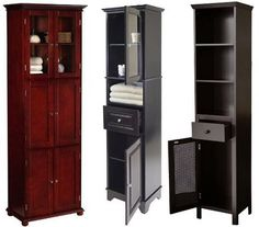 Bathroom Storage Cabinets | Tall Bathroom Storage Cabinets Pictured: