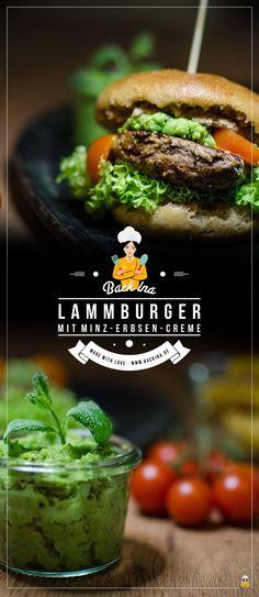 Burger mal anderes: Lamm-Burger mit Roggen-Vollkornbuns und Erbsen-Minzcreme | BackIna.de
