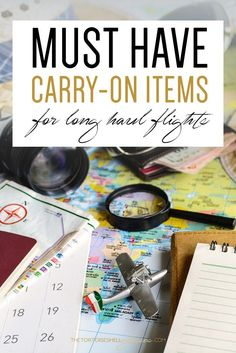 Must have carry-on items for long haul flights! Ever wondered what you should be packing - This is the perfect list to help you pack light!  Carry on items, how to pack a small bag for flight, what I carry in my bag on flights.