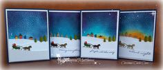 Sleigh Ride - One of my favorites. Jingle all the way Stampin' Up!  Stamp set  - I designed these cards for one of my Christmas Cards Classes