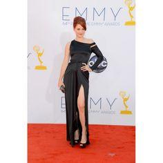 Alexandra Breckenridge Black One Sleeve Evening Dress 2012 Emmy Awards