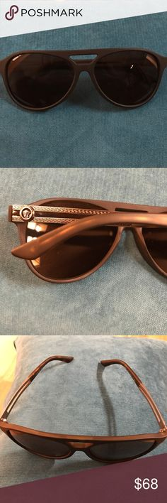 Versace sunglasses They're stylish and great in the sun. No scratches anywhere, worn once. Does not come with a case. Versace Accessories Sunglasses