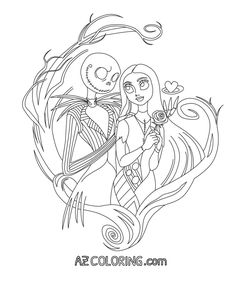 nightmare before christmas coloring page - Nightmare Before Christmas Coloring Book