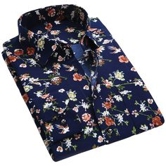 New Spring Men Casual Shirts Fashion Long Sleeve Brand Printed Button-Up Formal . New Spring Men Casual Shirts Fashion Long Sleeve Brand Printed Button-Up Formal Business Polka Dot Floral Men Mens Printed Shirts, Branded Shirts, Business Shirts, Men Shirts, Casual Shirts For Men, Men Casual, Camisa Vintage, Floral Shirt Dress, Floral Shirts