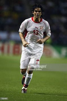 Riadh Bouazizi of Tunisia in action during the FIFA World Cup Finals 2002 Group H match between Belgium and Tunisia played at the Oita Big Eye...