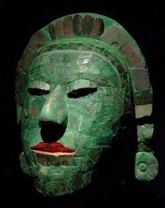 Máscara de jade maya Museo Nacional de Antropología de México