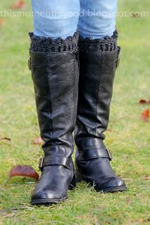 LOOM KNIT PICOT EDGED BOOT TOPPERS/CUFFS. Dress up those boots ladies!