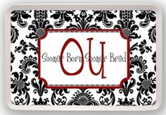 Perfect for game day! Boomer Sooner!
