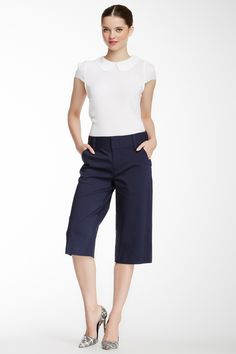 alice & olivia Cropped Wide Leg Pant