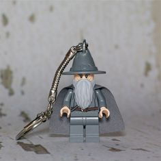 Gandalf the Grey LEGO key chain. $12.00, via Etsy.