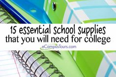 15 essential school supplies that you will need for college #college #backtoschool