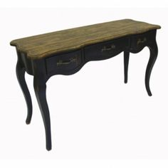 This French Rustic Black Console Table with a rustic top and elegantly curved legs, will be a beautiful feature, adding French charm to your home. French Furniture, Shabby Chic Furniture, Rustic Furniture, French Farmhouse, Rustic Farmhouse, French Country, Entrance Table, Entryway Tables, Rustic Console Tables