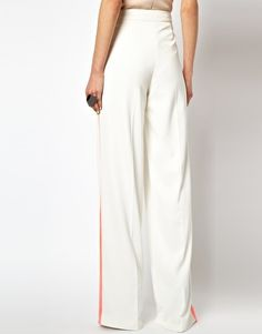 Image 2 ofAqua Mornay Trouser with High Waist and Side Stripe