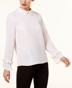 CeCe Embellished-Collar Blouse - Purple XS