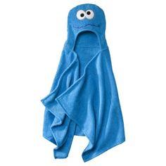 """Sesame Street Cookie Monster Hooded Towel - Blue (23x51"""")"""