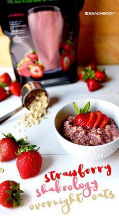 Strawberry Shakeology Overnight Oats