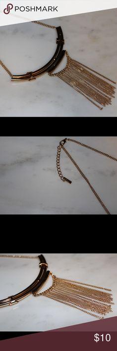 Gold Fringe Statement Necklace Gold Fringe Statement Necklace (never worn) Jewelry Necklaces