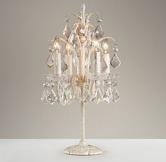Great for a teens room as well! So glamorous! Candelabra Table Lamp | Table | Restoration Hardware Baby & Child