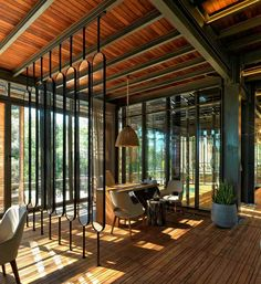 Image 12 of 31 from gallery of Bodrum Demirbuku Houses Club House / Erginoglu & Çalışlar. Photograph by Cemal Emden Modern Tropical House, Tropical House Design, Tropical Houses, Architecture Design, Cabinet D Architecture, Ancient Architecture, Casas Club, Clubhouse Design, 400m