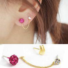 Cute Bunny Two Hole Tassel Fashion Earrings   LilyFair Jewelry, $9.99!