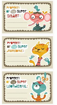 Cute printable kid labels.