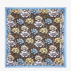 Multicolor silk foulard - FLOWERS FOULARD | Fendi
