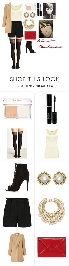 """""""Vincent Phantomhive"""" by charbear231 ❤ liked on Polyvore featuring Christian Dior, Urban Outfitters, American Vintage, River Island, Kendra Scott, Yves Saint Laurent, Kate Spade, Miss Selfridge and Lulu Guinness"""