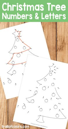This Christmas tree dot to dot version is both fun and helps kids practice number and letters easily. We have one just as a coloring page :)