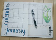 January spread for my bullet journal