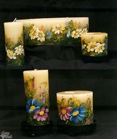 painting on candles