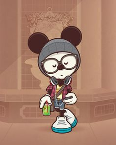 A Hipster's Life For Me - Hipster Mickey