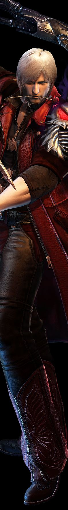 Dante as he appeared in Devil May Cry 4. For a video game character, he is a pretty good looking one.