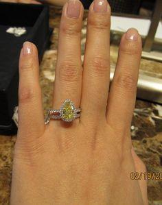 Yellow canary diamond engagement ring JOYAS Pinterest Dream