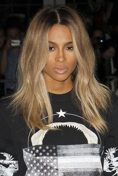 Ciara Hairstyles Pleasing Ciara Blonde Hair At Givenchy Show  Paris Fashion Week  Want This