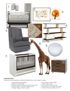 Fashionista Mom: Find's from and inspired by Rachel Zoe's chic modern nursery.