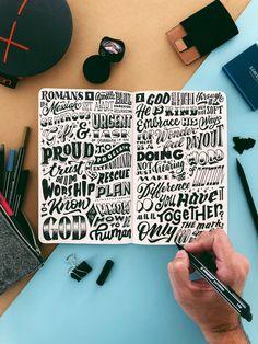 Fantastic caligraphy by Stefan Kunz on procreate. Hand Lettering Art, Lettering Ideas, Creative Lettering, Lettering Tutorial, Handwritten Letters, Calligraphy Letters, Typography Letters, Caligraphy, Word Doodles