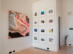 Arthur Brouthers fluid abstract piece installed at a modern home in Myers Park, Charlotte NC.